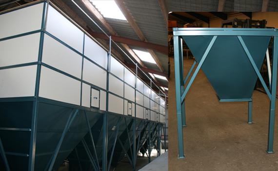 Mosegård Silo -professionel opbevaring af foder. Leveres som standard fra 1ton til 24,6 tons.