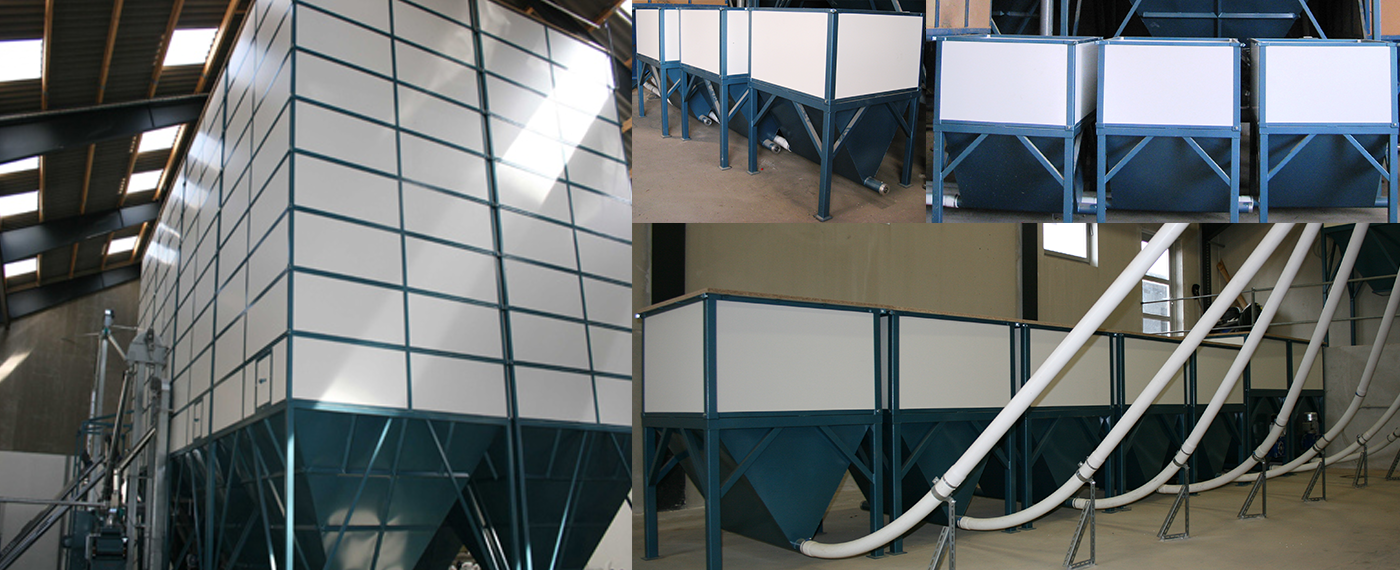 Siloer leveres som standard fra 1 til 24,6 tons - Nemt og fleksibelt installeret modulsystem!