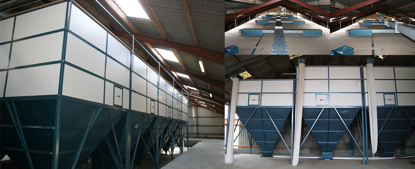 Indoor silos in all sizes! Professional fodder storage!